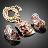 Dark Red Flower Oil Painting Pattern Jewelry Sets J1009 - gopowear.com