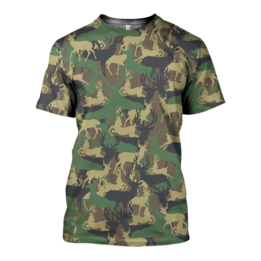 3D All Over Printed Camo Animals Art Shirts and Shorts