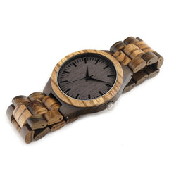 Vintage Zebra Wood Watches - gopowear.com