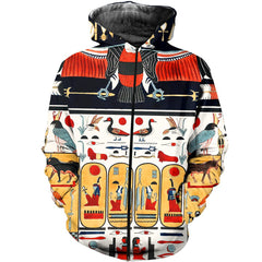 3D All Over Printed Egyptian Hieroglyphics Shirts and Shorts