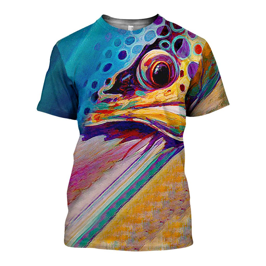 3D All Over Printed  Nice Salmon Skin Art Shirts and Shorts SCOK151003 - gopowear.com