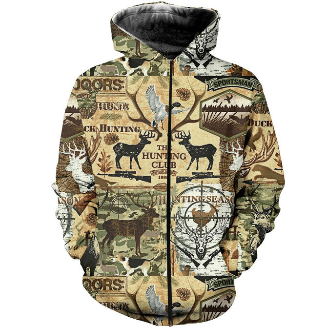 713bf2412f59b 3D All Over Printed Hunting Art Shirts and Shorts – gopowear.com