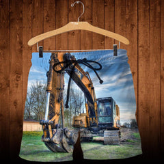 3D All Over Printed Heavy Equipment Art Shirts and Shorts