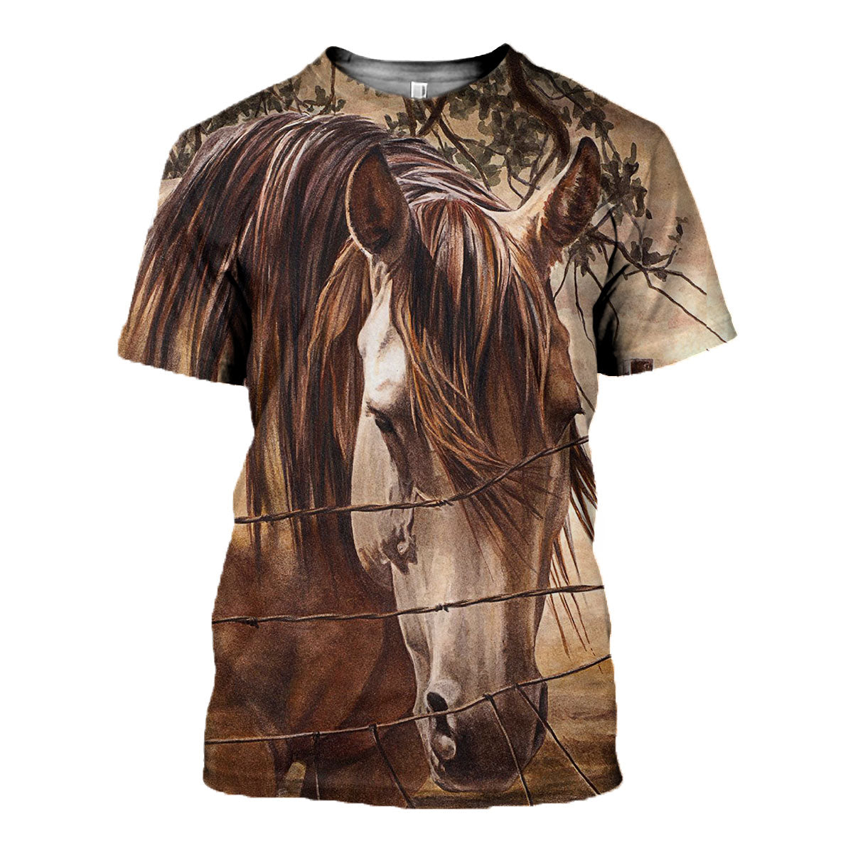 3D All Over Printed Horse Art Shirts and Shorts