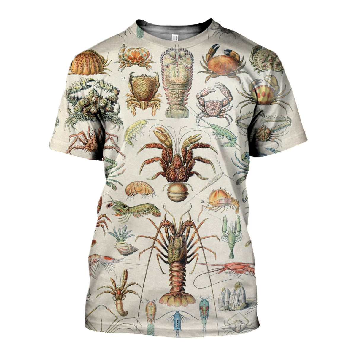 3D All Over Printed Sea Crustaceans Shirts and Shorts - gopowear.com