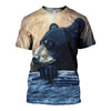 3D All Over Printed Black Bear Shirts and Shorts