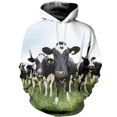 3D All Over Printed Dairy Cattle Shirts And Shorts