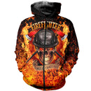 3D printed Fire Fighter Skull T-shirt Hoodie SCTL170402