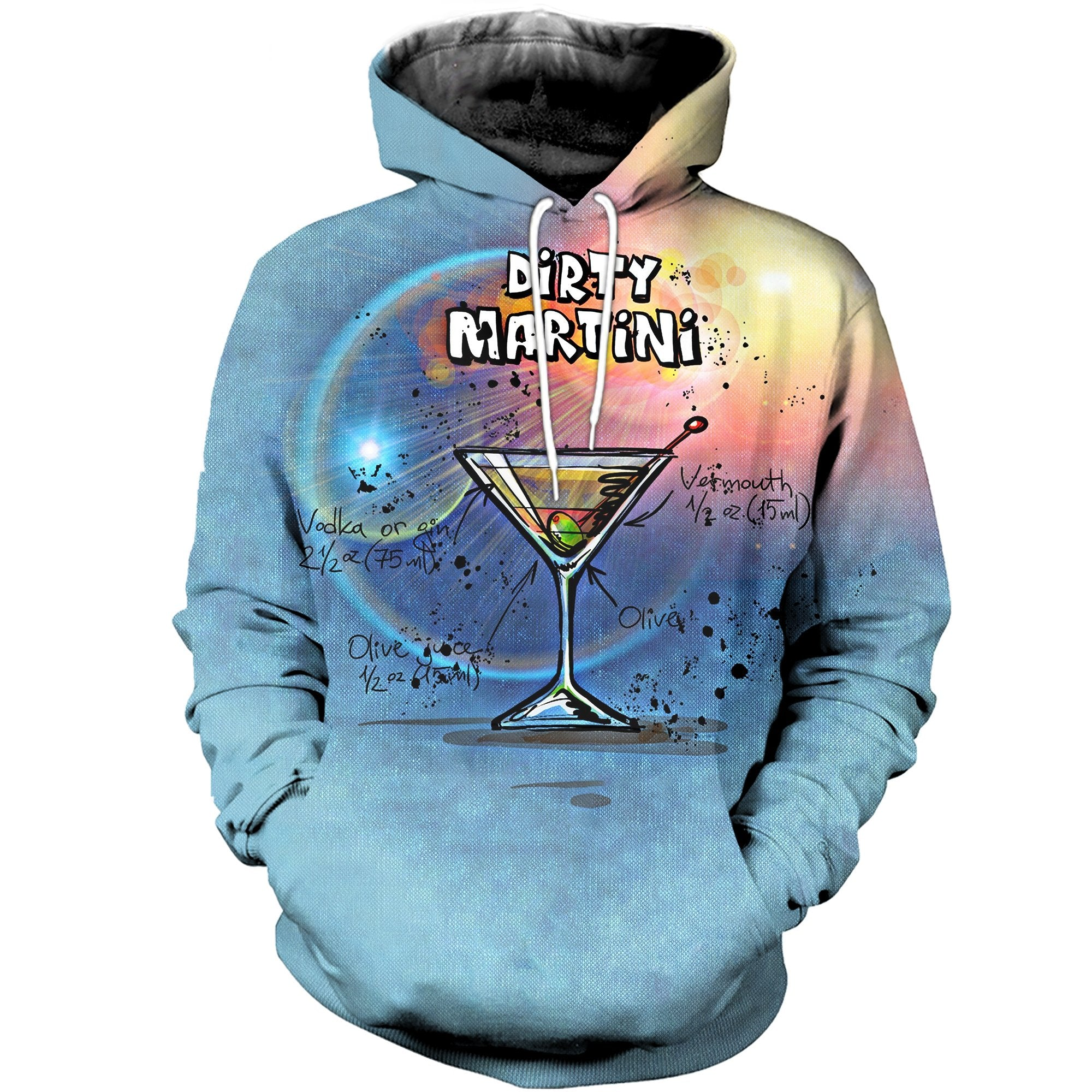 3D printed Martini cocktail T-shirt Hoodie SCTL180403