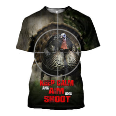 3D printed Turkey Hunting T-shirt Hoodie SCUM070518