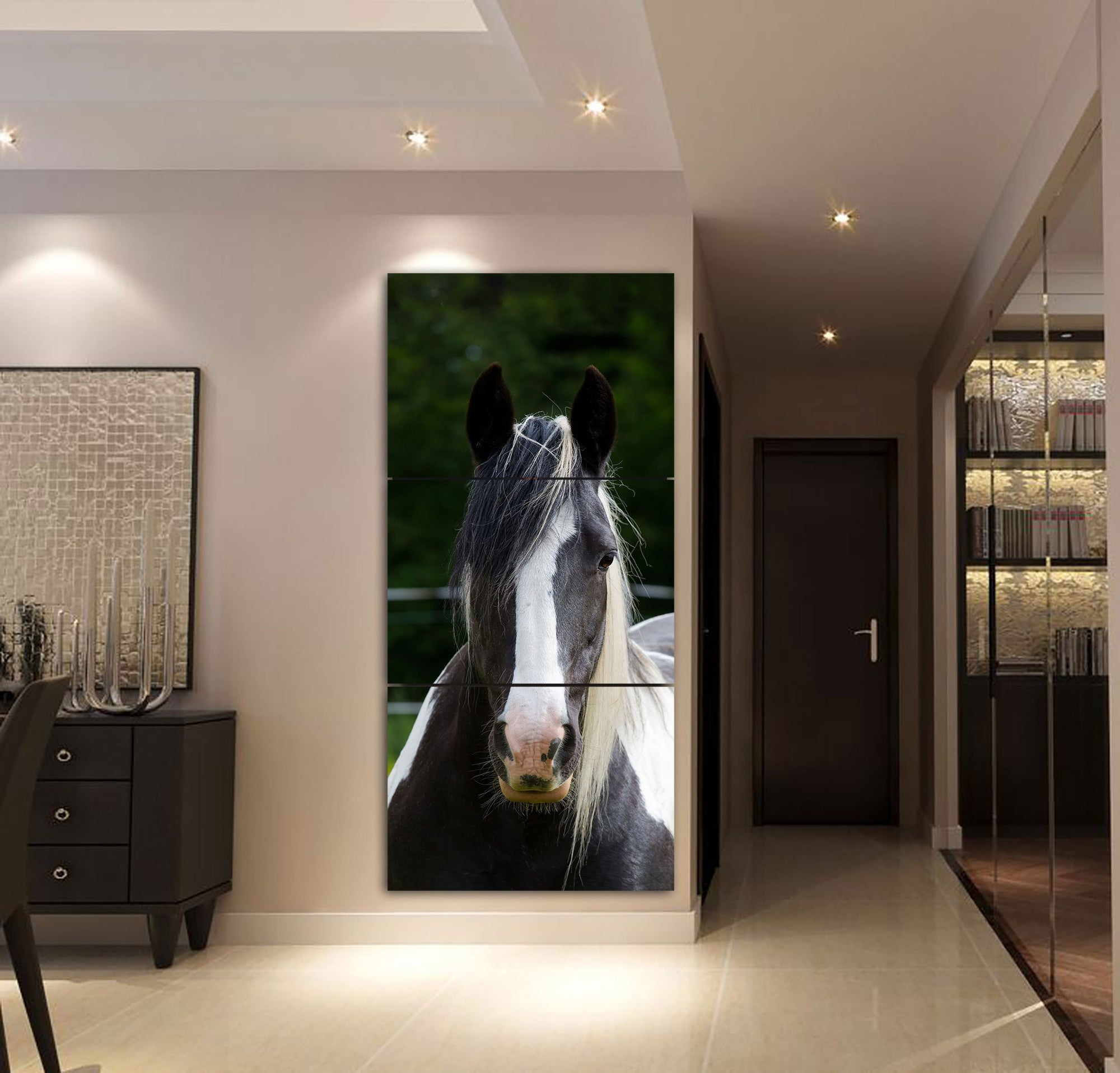 3-piece Lrish Cob Horse Printed Canvas Wall Art