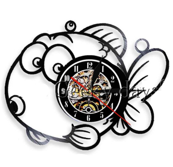 Chuppy Fish Vinyl Wall Clock