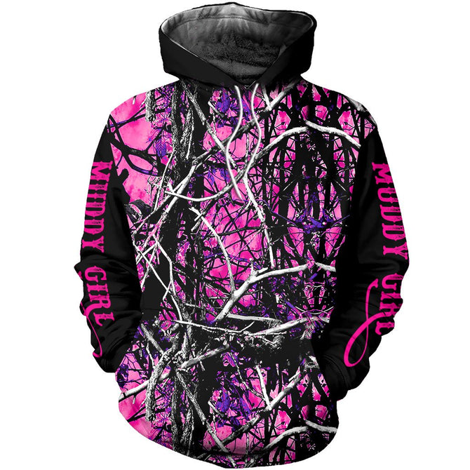 9afd62bc8f88e 3D All Over Printed Muddy Girl Camo Shirts and Shorts – gopowear.com