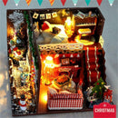 Miniature Christmas Dollhouse