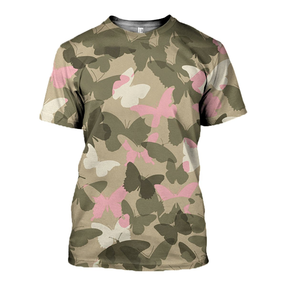 3D printed Camo and Butterflies T-shirt Hoodie