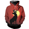 3D printed Deer with Sunset Sunset T-shirt Hoodie ADAK090501