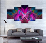 5-piece Butterfly printed Canvas Wall Art