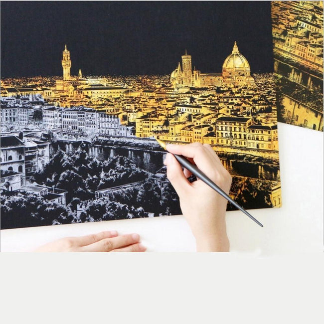 DIY Scratch Scraping Sightseeing Pictures - gopowear.com