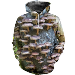 3D All Over Printed Grow Shiitake Mushrooms  Shirts and Shorts