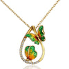 Fashion 2 butterfly Pendant Necklaces