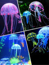 Glowing Artificial Vivid Jellyfish Silicone Fish Tank Decor