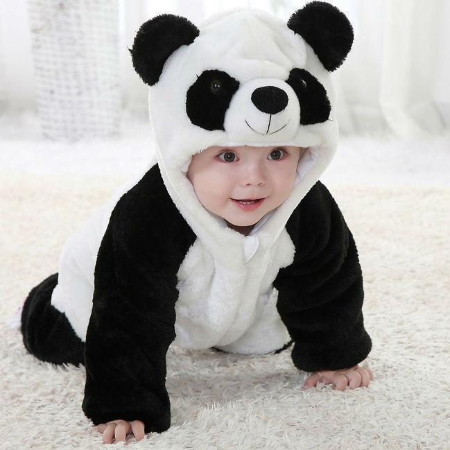 Cute Animal Panda One Piece Long Sleeve Cotton Newborn Baby Costume