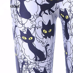 Black Cats Leggings Style 2017 - gopowear.com