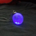 Dandelion Glow In The Dark Wish Glass Bottle Necklaces - gopowear.com