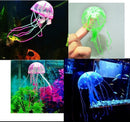 Glowing Artificial Vivid Jellyfish Silicone Fish Tank Decor - gopowear.com