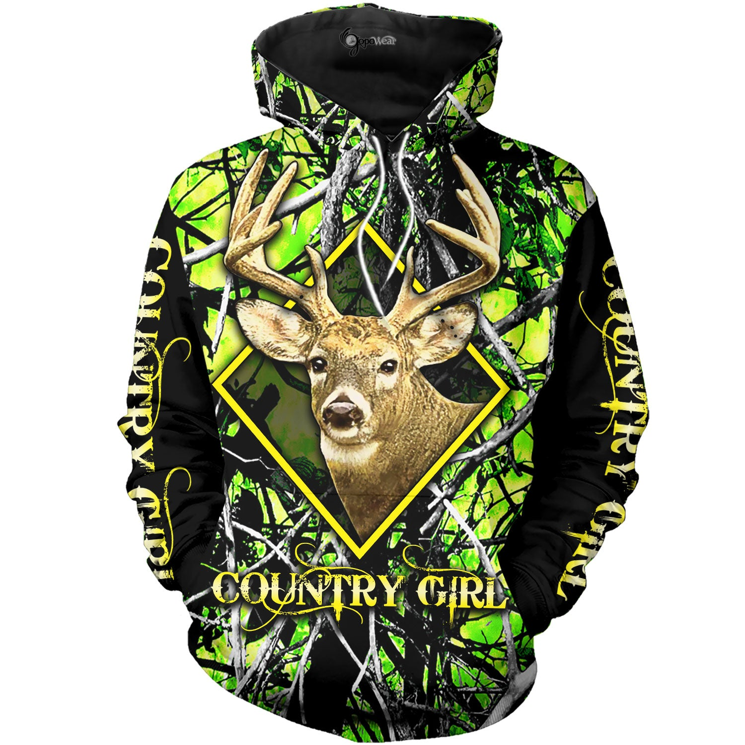 Green Camo Country Girl 3D All Over Printed Shirts For Men & Women