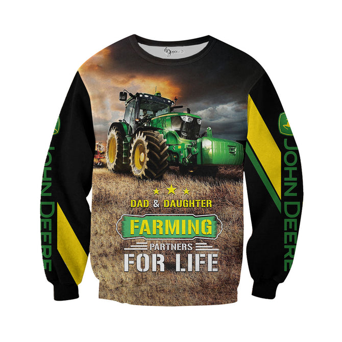 16cb66c51 Dad & Daughter Tractor 3D All Over Printed Shirts For Men & Women ...