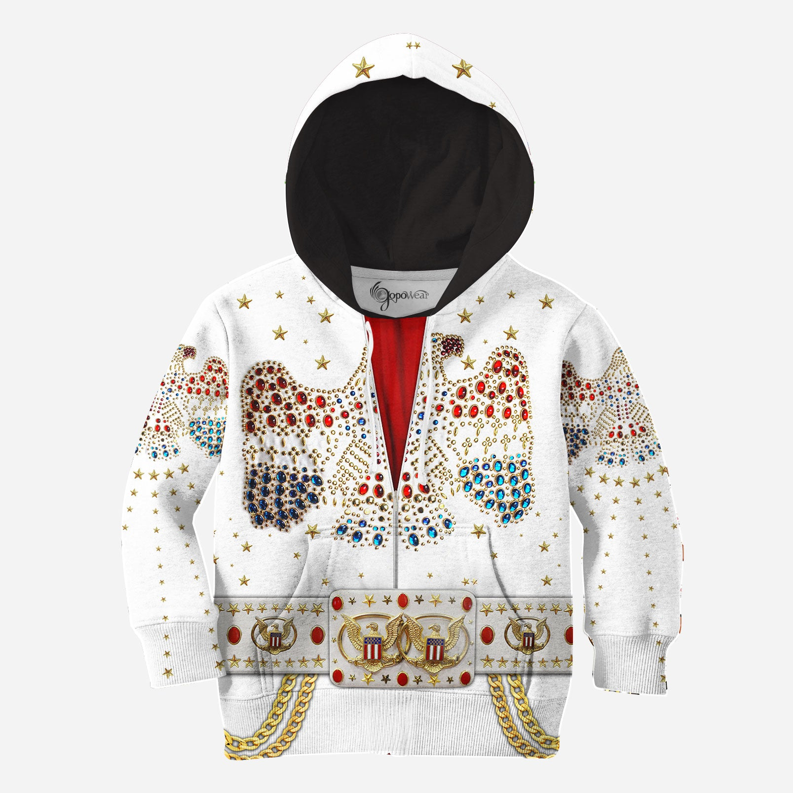 Elvis Jumpsuit 3D All Over Printed Shirts For Kids