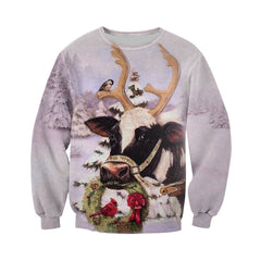 3D All Over Printed Dairy Cows Christmas Shirts and Shorts