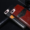 Premium Vertical Flip Card Holder Leather Case For iPhone - gopowear.com