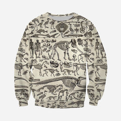 3D All Over Printed Fossilized Fossil Shirts And Shorts