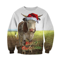 3D All Over Printed Cows Christmas Shirts And Shorts