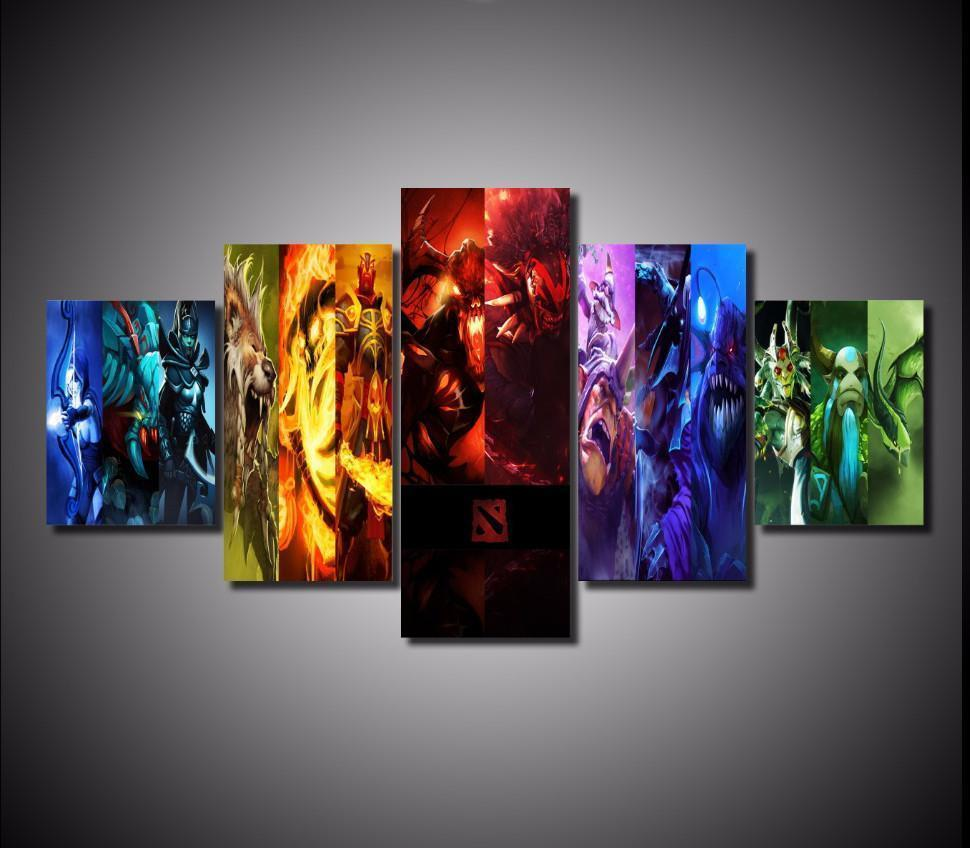 5-piece Dota 2 printed Canvas Wall Art - gopowear.com