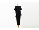 Autumn Basic Side High Slit Long Sexy T-shirt Dress - gopowear.com