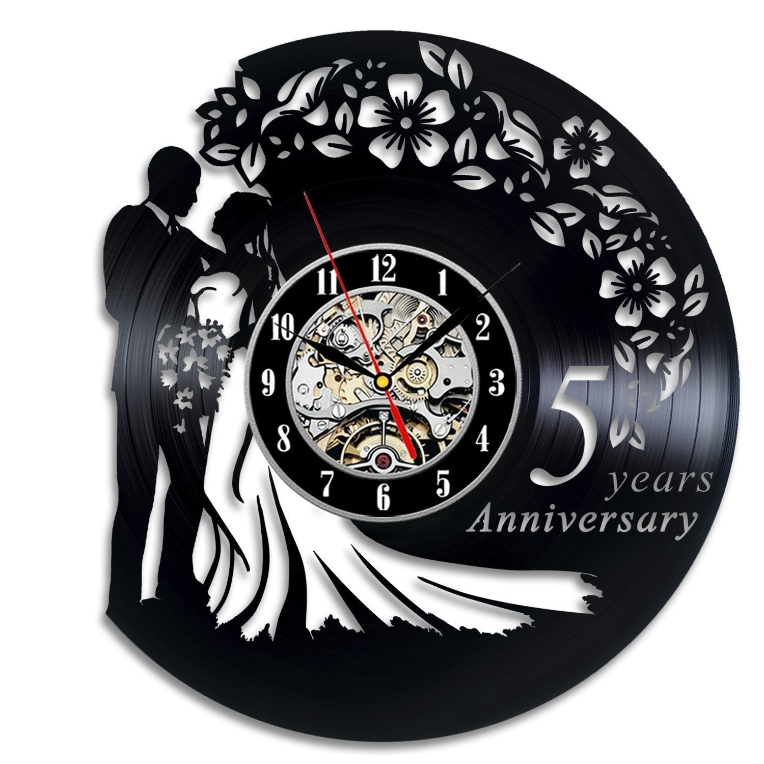 5 Year Anniversary Vinyl Wall Clock