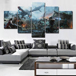 5-piece Skyrim printed Canvas Wall Art