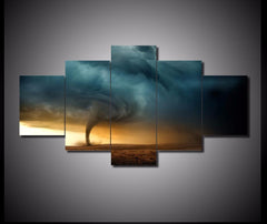 5-piece Tornado Landscape printed Canvas Wall Art