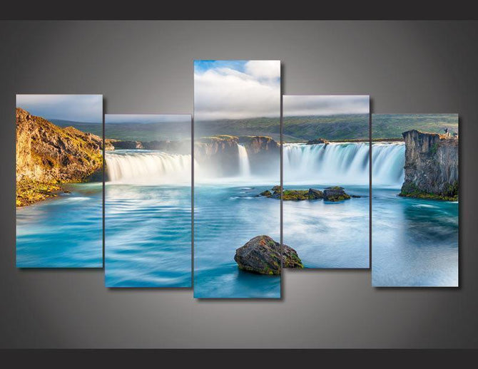 5 piece Waterfall printed Canvas Wall Art SM100504