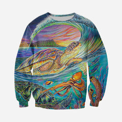 3D All Over Printed Colorful Sea Turtle Shirts and Shorts