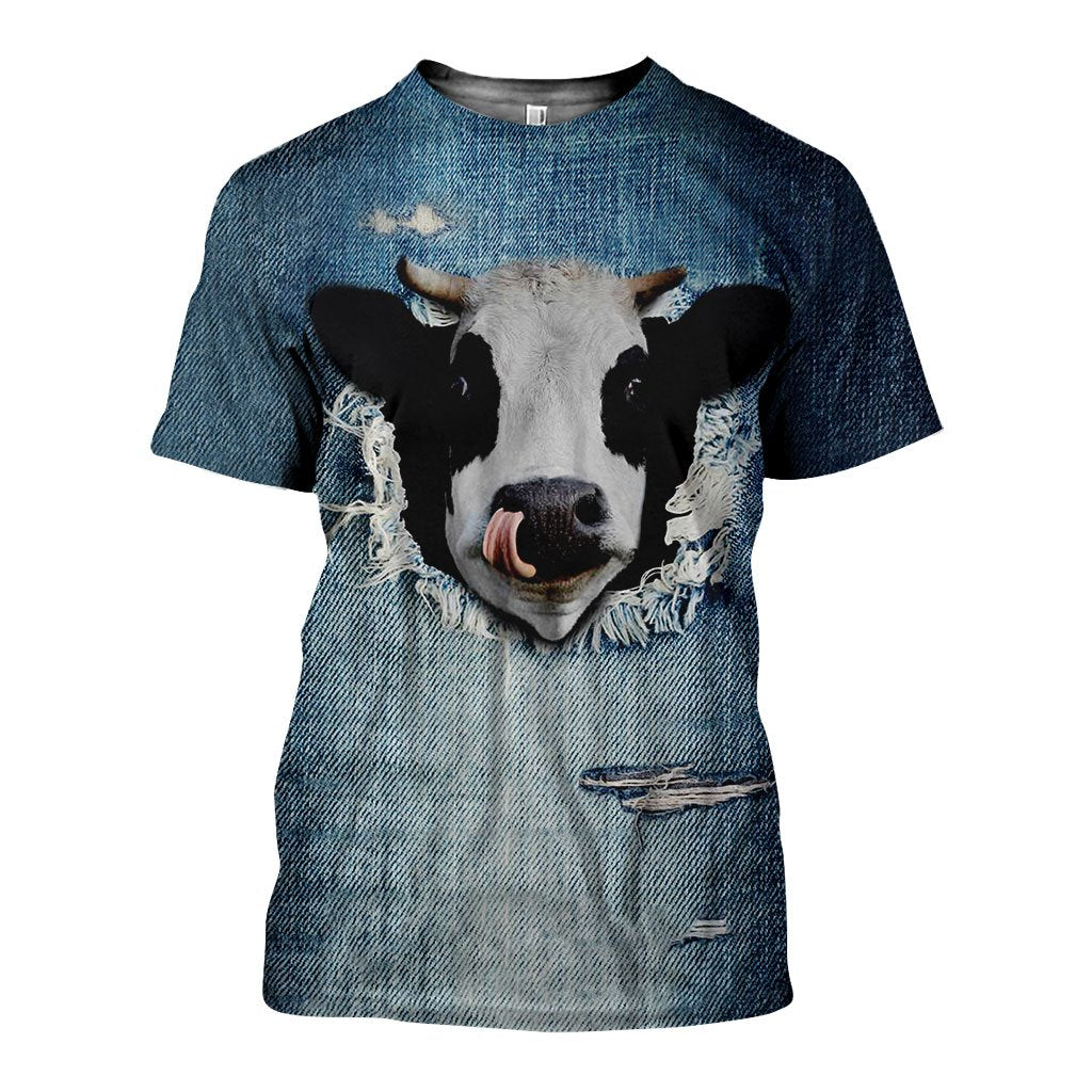 3D All Over Printed Cows Shirts and Shorts