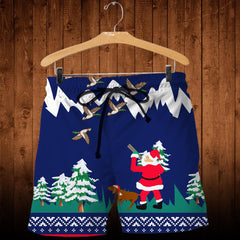 3D All Over Printed Duck Hunting Christmas Shirts and Shorts