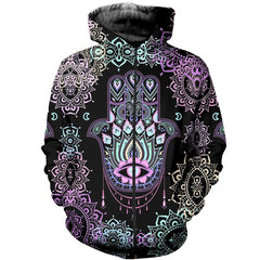 3D All Over Printed Hamsa Shirts and Shorts