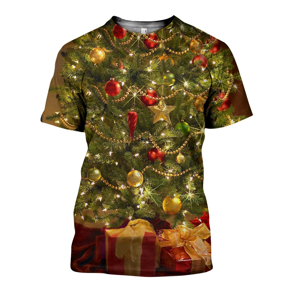 3D All Over Printed Christmas Trees Shirts and Shorts