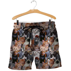 3D All Over Printed Cat Shirts And Shorts