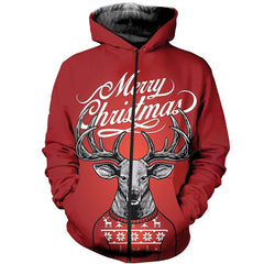 3D All Over Printed Deer Christmas Shirts And Shorts