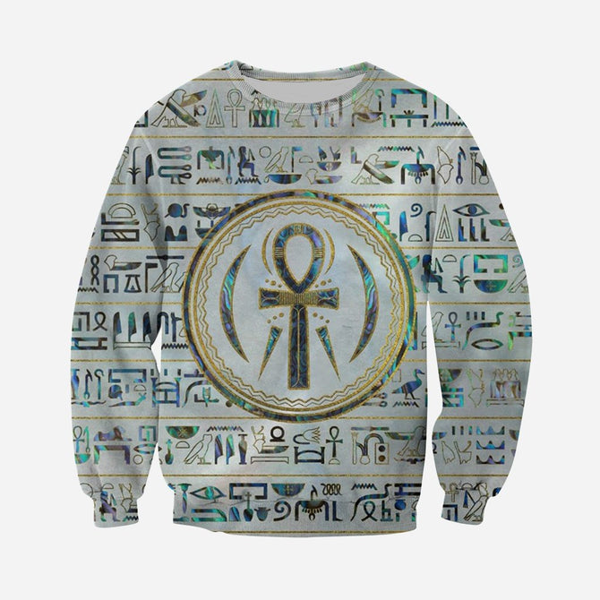 3d all over printed gold egyptian ankh cross shirts and shorts